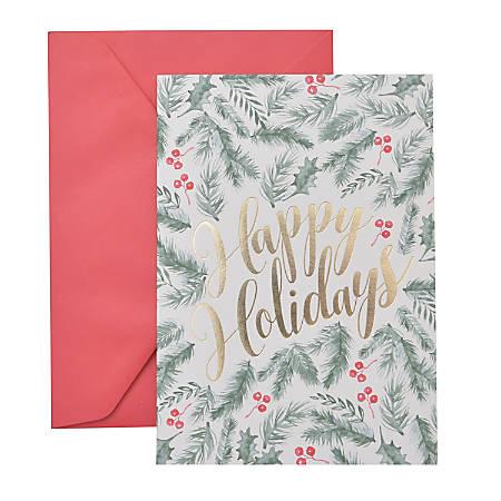 "Gartner™ Studios Holiday Boxed Cards, 5"" x 7"", Happy Holidays, Box Of 20 Cards"