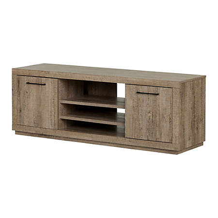 """South Shore Kanji TV Stand For Up To 60"""" TVs, Weathered Oak"""