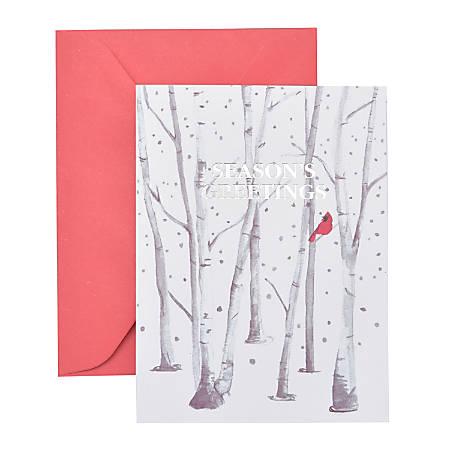 "Gartner™ Studios Holiday Boxed Cards, 5"" x 7"", Tree Bird, Box Of 20 Cards"