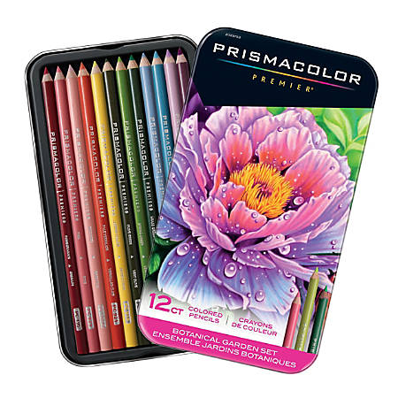 Prismacolor Premier Colored Pencil Set, 0.7 mm, Soft Core, Botanical Garden, Set Of 12 Pencils