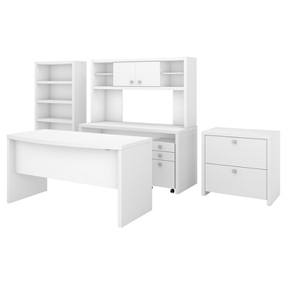 Kathy Ireland Office By Bush Business Furniture Echo Bow Front Desk