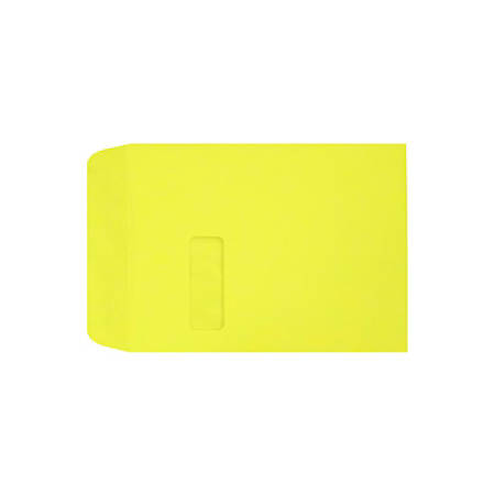 """LUX Open-End Window Envelopes With Peel & Press Closure, #9 1/2, 9"""" x 12"""", Citrus, Pack Of 1,000"""