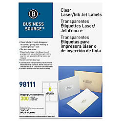 Business Source Clear Address Labels Permanent