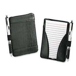 """Oxford® At-Hand Note Card Case, Black, 3 3/8""""D x 3/8""""H x 5 9/16""""W, Pack Of 25 Cards Included"""