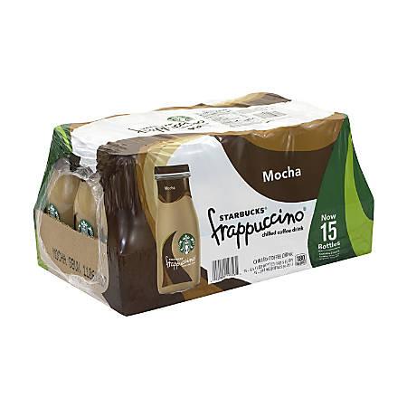 Starbucks Frappuccino Mocha Coffee Drink, 9.5 Oz, Pack Of 15 Bottles