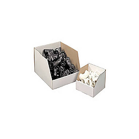 """Office Depot® Brand White Jumbo Open Top Parts Bin Boxes, 12"""" x 12"""" x 24"""", Pack Of 25"""
