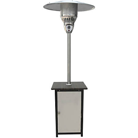 """Hanover Patio Heater, 85 13/16""""H x 21 7/8""""W x 31 7/8""""D, Stainless Steel"""
