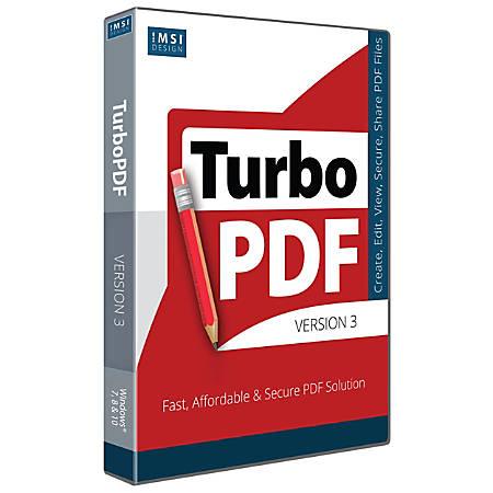 IMSI TurboPDF V3, Traditional Disc