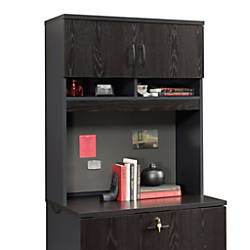 Sauder Via Lateral File Hutch Bourbon