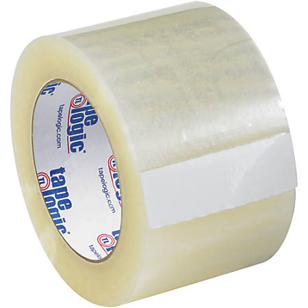 """Tape Logic® Quiet Carton-Sealing Tape, 3"""" Core, 3.1-Mil, 3"""" x 55 Yd., Clear, Pack Of 24"""