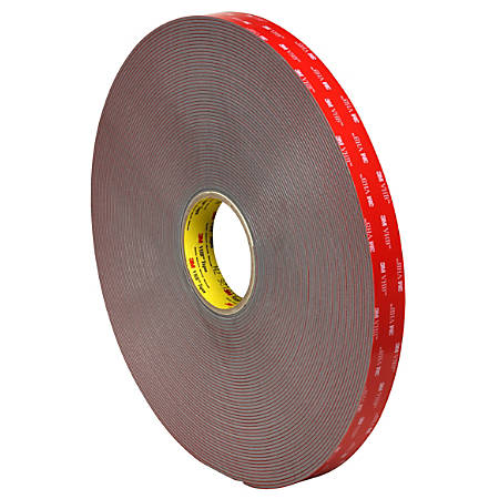 "3M™ VHB™ 4991 Tape, 1.5"" Core, 1"" x 5 Yd., Gray"