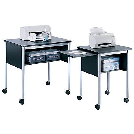 """Safco® Multi-Purpose Stand, 30 1/4""""H x 31 1/2""""W x 23 3/4""""D, Black/Metallic Gray"""