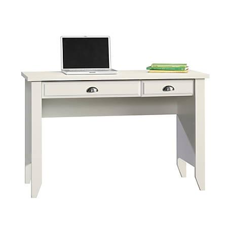 Sauder® Shoal Creek Computer Desk with Flip Down Computer Tray, Soft White