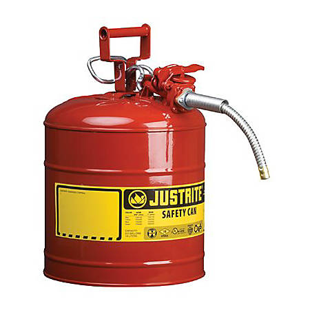Type II AccuFlow Safety Cans, Oils, 5 gal, Green