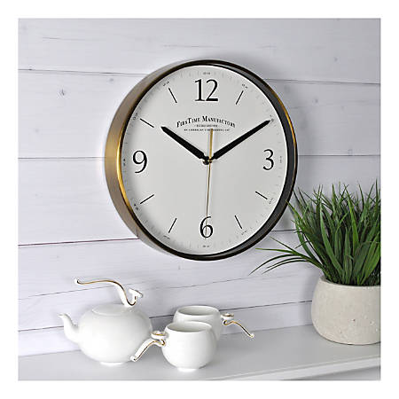 FirsTime & Co.® Metal Wall Clock, Gold