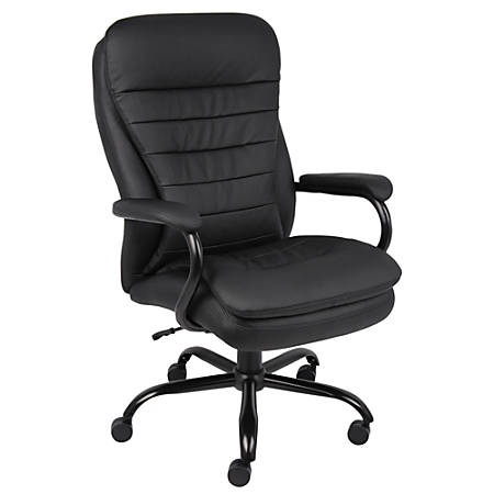 Boss Heavy-Duty Big & Tall High-Back Chair, Black