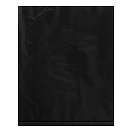 "Office Depot® Brand Flat 2-Mil Poly Bags, 12"" x 15"", Black, Case Of 1,000"