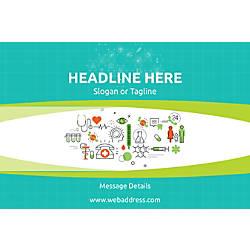 Horizontal Banner Healthcare Icons