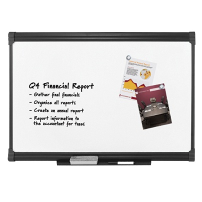 Foray Porcelain Magnetic Dry Erase Board 48 X 72 White Graphite Finish Frame By Office Depot Officemax