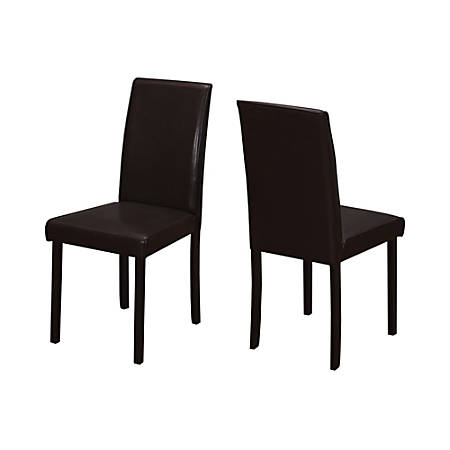 Monarch Specialties Ethan Dining Chairs, Cappuccino, Set Of 2 Chairs