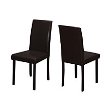 Monarch Specialties Ethan Dining Chairs Cappuccino