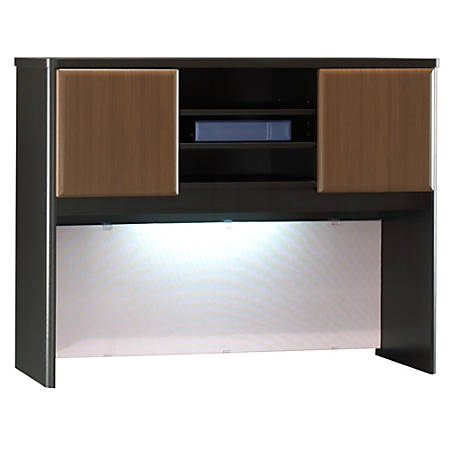"Bush Office Advantage 48"" Hutch, 36 1/2""H x 47 1/2""W x 13 7/8""D, Sienna Walnut, Premium Installation Service"