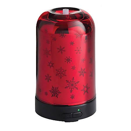 "Airome Ultrasonic Essential Oil Diffuser, 6-1/4"" x 3-3/4"", Glass Snowfall"