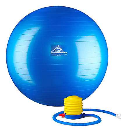 Black Mountain Products Pro Series Stability Ball, 75 cm, Blue