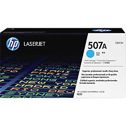 HP 507A Cyan Original Toner Cartridge