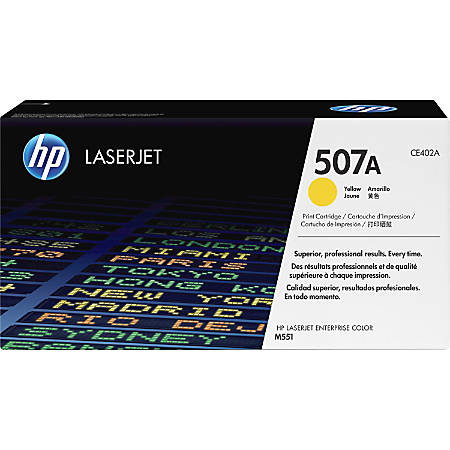 HP 507A, Yellow Original Toner Cartridge (CE402A)
