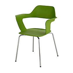 Safco Bandi Shell Stacking Chairs GreenSilver