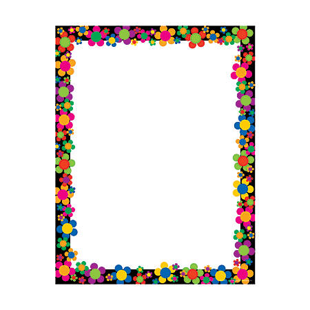 "Barker Creek Computer Paper, 8 1/2"" x 11"", Neon Flower Power, Pack Of 50 Sheets"