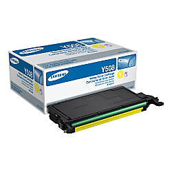 Samsung CLT Y508S Yellow Toner Cartridge