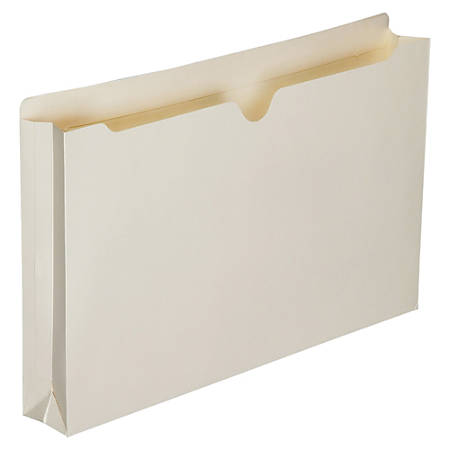 """SKILCRAFT® Manila Double-Ply Tab Expanding File Jackets, 2"""" Expansion, Legal Size Paper, 8 1/2"""" x 14"""", 30% Recycled, Box Of 50"""