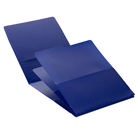 """Smead® Organized Up® Poly Stackit® Organizers, 8 1/2"""" x 11"""", Letter Size, Dark Blue, Pack Of 2"""