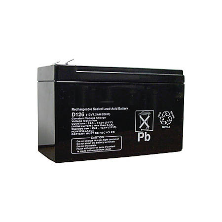 Bosch D126 Security Device Battery - For Security Device - Battery Rechargeable - 12 V DC - 7000 mAh - Sealed Lead Acid (SLA)