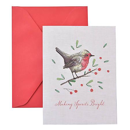 "Gartner™ Studios Holiday Boxed Cards, 5"" x 7"", Bird Branch, Box Of 20 Cards"