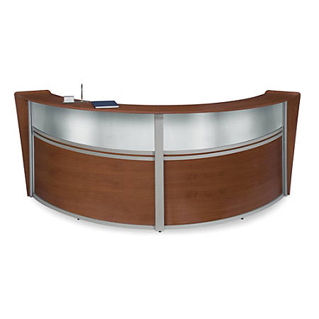 OFM Double-Marque Reception Station With Plexi, Cherry