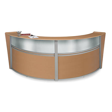 OFM Double-Marque Reception Station With Plexi, Maple