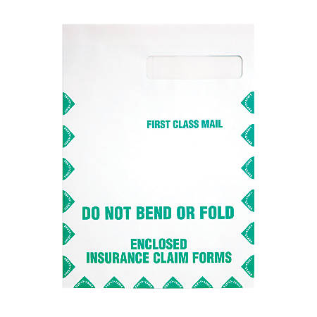 "Quality Park® Redi-Seal™ Medical Claim Business Envelopes, 9"" x 12 1/2"", White, Box Of 100"