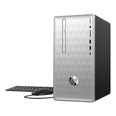 HP Pavilion 590-p0050 Desktop PC, 8th Gen Intel® Core™ i5+, 8GB Memory/16GB  Intel® Optane™ Memory, 1TB Hard Drive, Windows® 10 Home Item # 6810200