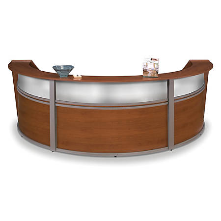 OFM Triple-Marque Reception Station, With Plexi, Cherry