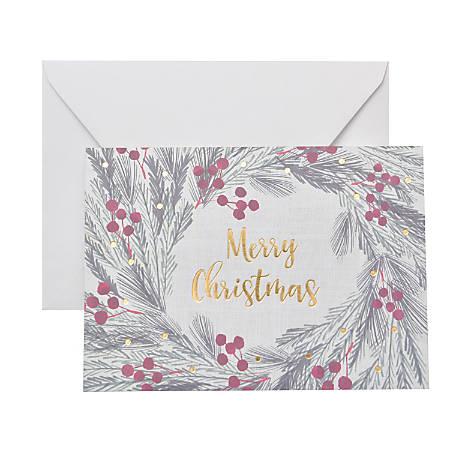 "Gartner™ Studios Holiday Boxed Cards, 5"" x 7"", Holly, Box Of 20 Cards"