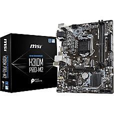MSI H310M PRO M2 Desktop Motherboard