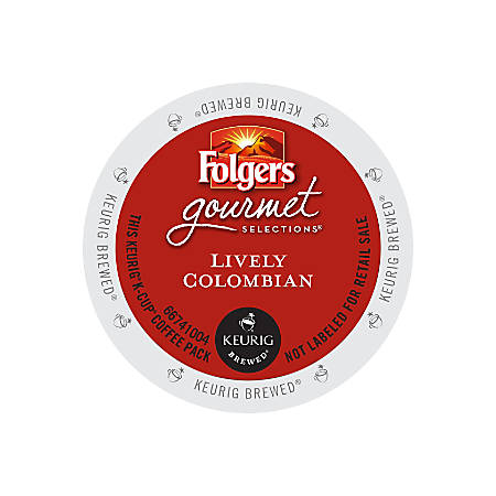 Folgers Gourmet Selections Coffee K-Cup® Pods, Colombian Roast, Box Of 24 Pods