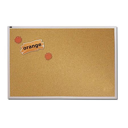 "Quartet® Education Cork Bulletin Board With Aluminum Frame, 36"" x 48"""