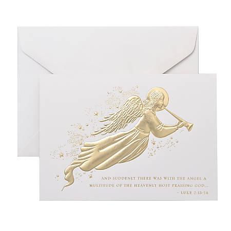 "Gartner™ Studios Holiday Boxed Cards, 5"" x 7"", Angel, Box Of 20 Cards"