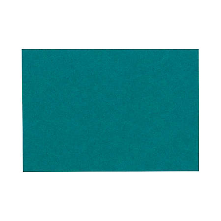 """LUX Mini Flat Cards, #17, 2 9/16"""" x 3 9/16"""", Teal, Pack Of 500"""