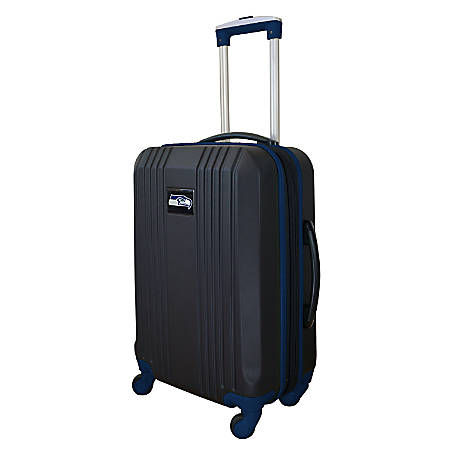 """Mojo L208 ABS Carry-On Hardcase Spinner, 21""""H x 14""""W x 9-1/2""""D, Seattle Seahawks, Black/Navy"""
