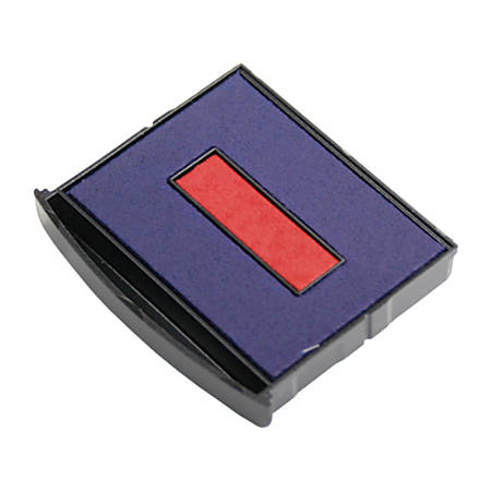 Cosco 2000PLUS Green Line Heavy-Duty 4-In-1 Dater Replacement Stamp Pad, Blue/Red
